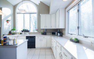small kitchen staging