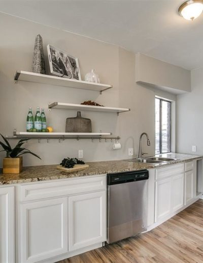 Kitchen interior decoration in a Houston home