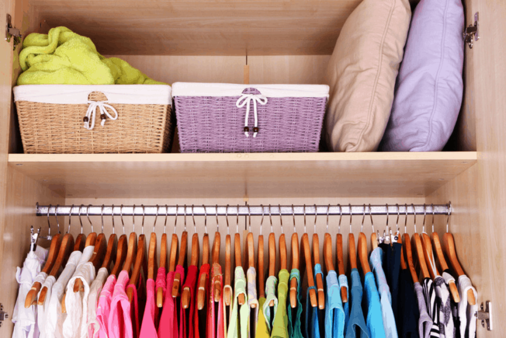recommended closet organizing and shelving