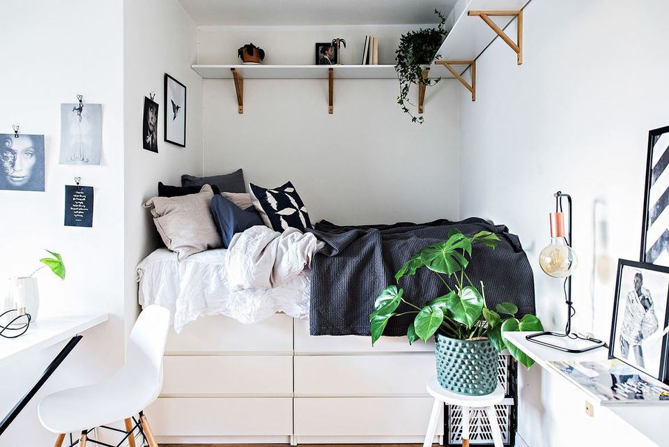 Simple, Organized Storage for Small Bedrooms